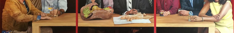 Tisch Triptychon