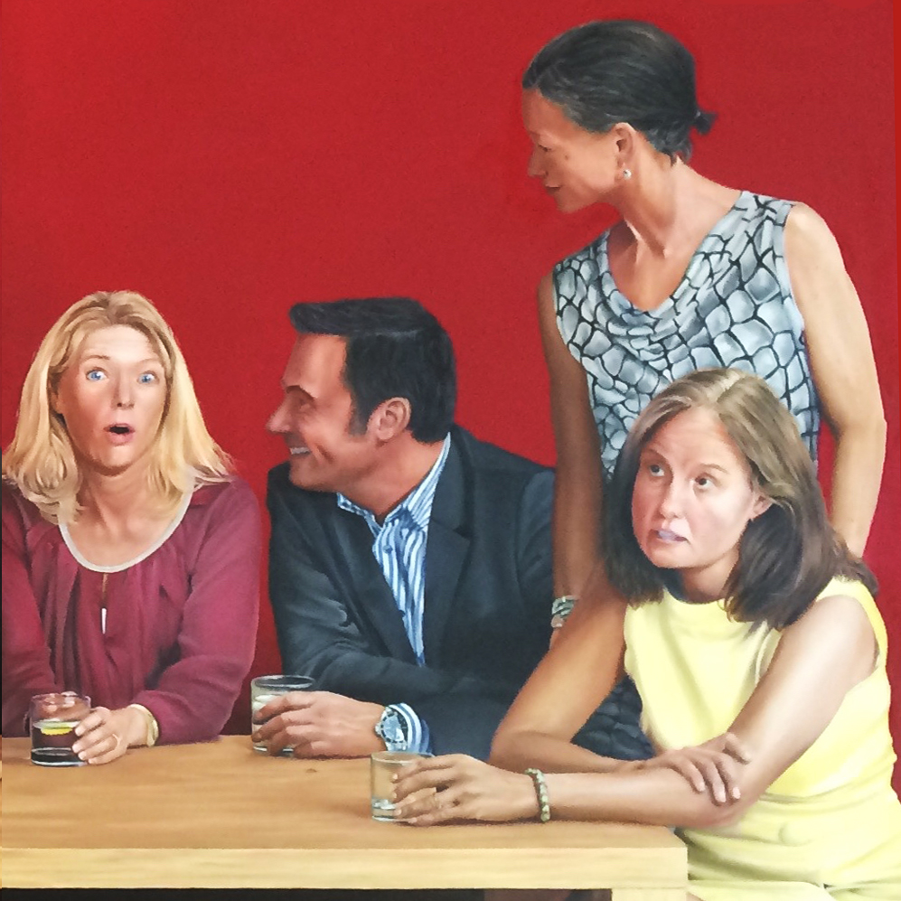 Table of Friends – right Canvas